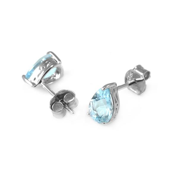 sterling silver sky topaz earrings