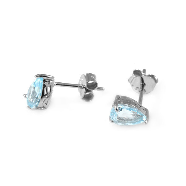 sterling silver sky topaz earrings
