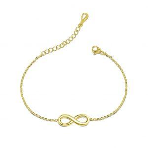 gold infinity bracelet azure chic