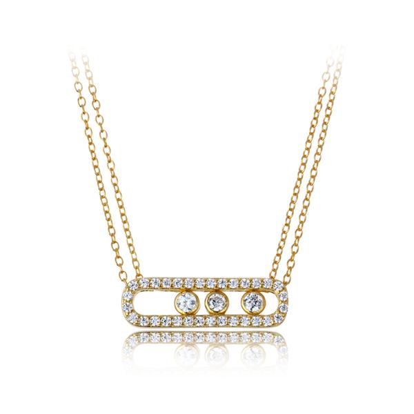cubic zirconia gold pendant necklace, cz gold pendant necklace Sale - 15 - Sale