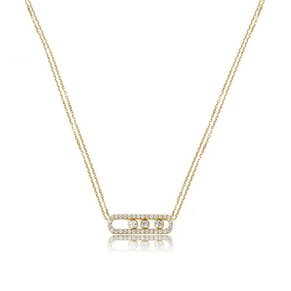 cubic zirconia gold pendant necklace, cz gold pendant necklace Sale - 15A - Sale