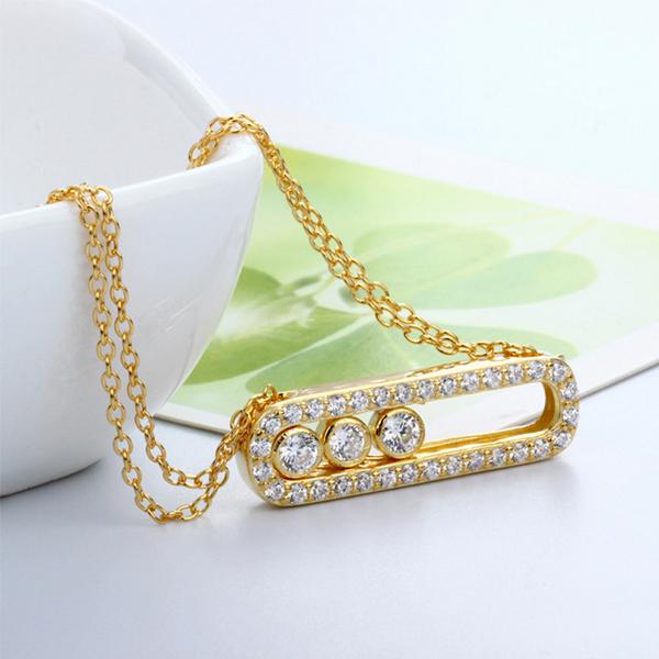 cubic zirconia gold pendant necklace, cz gold pendant necklace