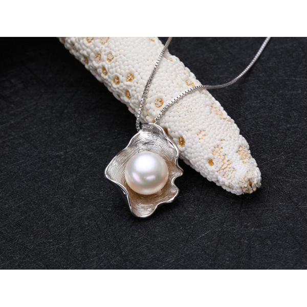Pearl sterling silver necklace online jewellery shop - 16A - The best online jewellery shop