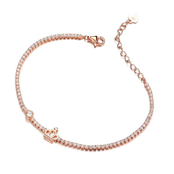 rose gold cubic zirconia bracelet, cz bracelet