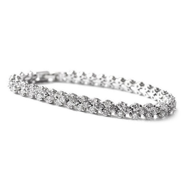sterling silver azure chic cz bracelet