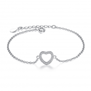 heart-sterling-silver-bracelet bracelet with meaning - Heart sterling silver bracelet 300x300 - Bracelets with Meaning
