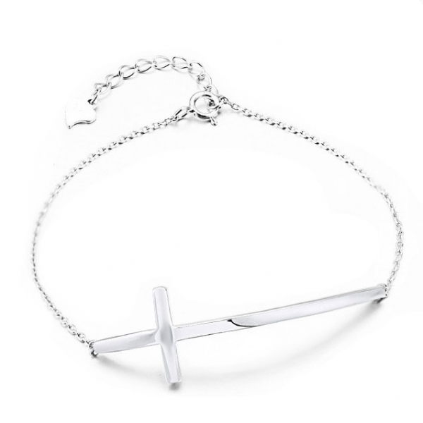 925-Sterling-Silver-Cross-Bracelet