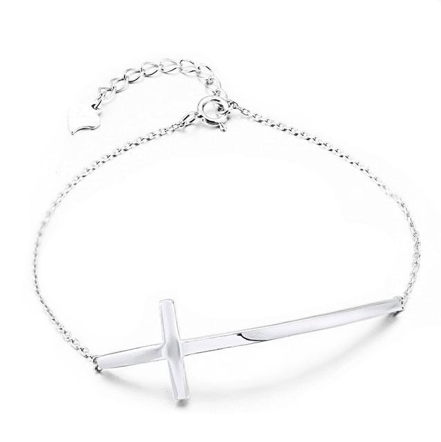925-Sterling-Silver-Cross-Bracelet