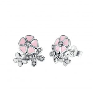 Cherry Blossom Silver Earrings