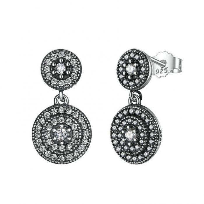Radiant Elegance Silver Drop Earrings