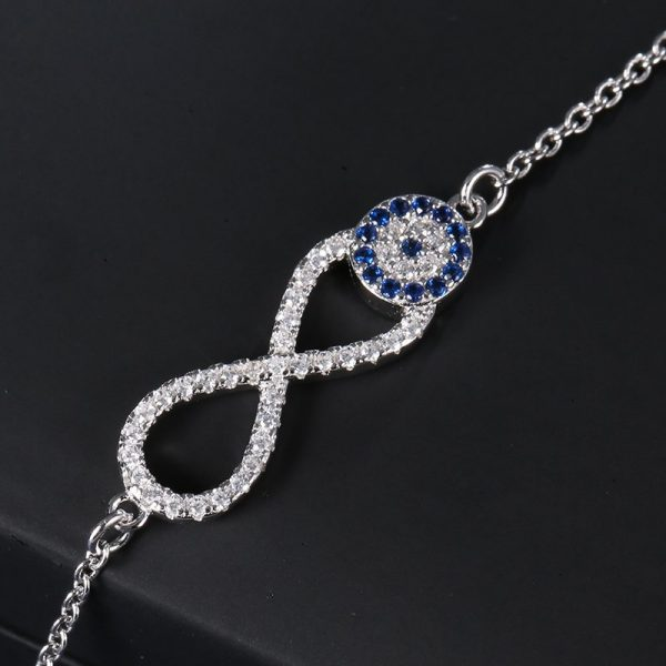 infinity evil eye bracelet sterling silver cubic zirconia 925 online jewellery shop - infinity evil eye bracelet sterling silver cubic zirconia 925 600x600 - The best online jewellery shop