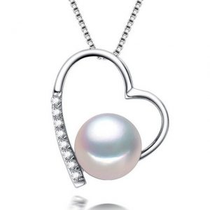 azure-chic-love-heart-necklace-natural-Pearl-Pendant-10-11MM-Natural-Freshwater-Pearl-Silver-Necklace-Pendant