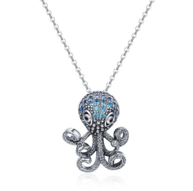 Funky-Octopus-CZ-Pendant-Necklace