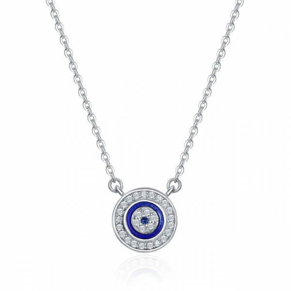 Jewellery-Sterling-Silver-Blue-Evil-Eye-Pendant-Necklace jewellery shop - Jewellery Sterling Silver Blue Evil Eye Pendant Necklace 600x600 - Jewellery, UK Jewellery Shops & Online Jewellery Store | Azurechic