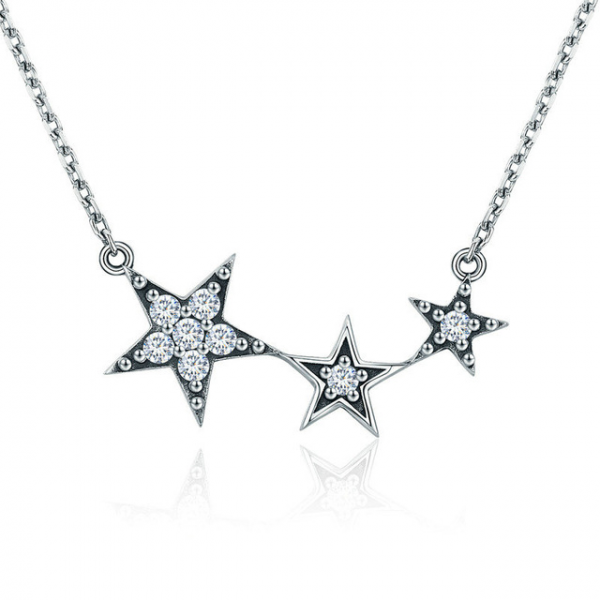 Silver-Stars-Necklace-jewellery shops Cyprus