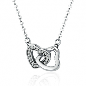 Silver United Hearts Necklace cyprus-jewellery-shops