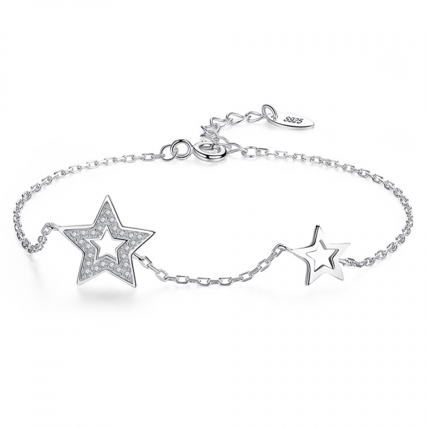 Silver-Sparkling-Stars-bracelet-silver-jewellery