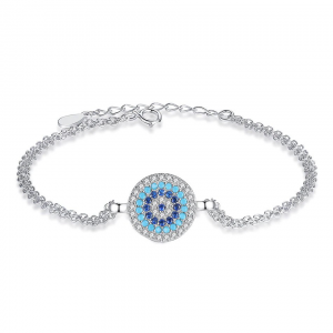 jewellery-Silver-Blue-Evil-Eye-Cubic-Zircon-Bracelet online jewellery shop - jewellery Silver Blue Evil Eye Cubic Zircon Bracelet 300x300 - The best online jewellery shop