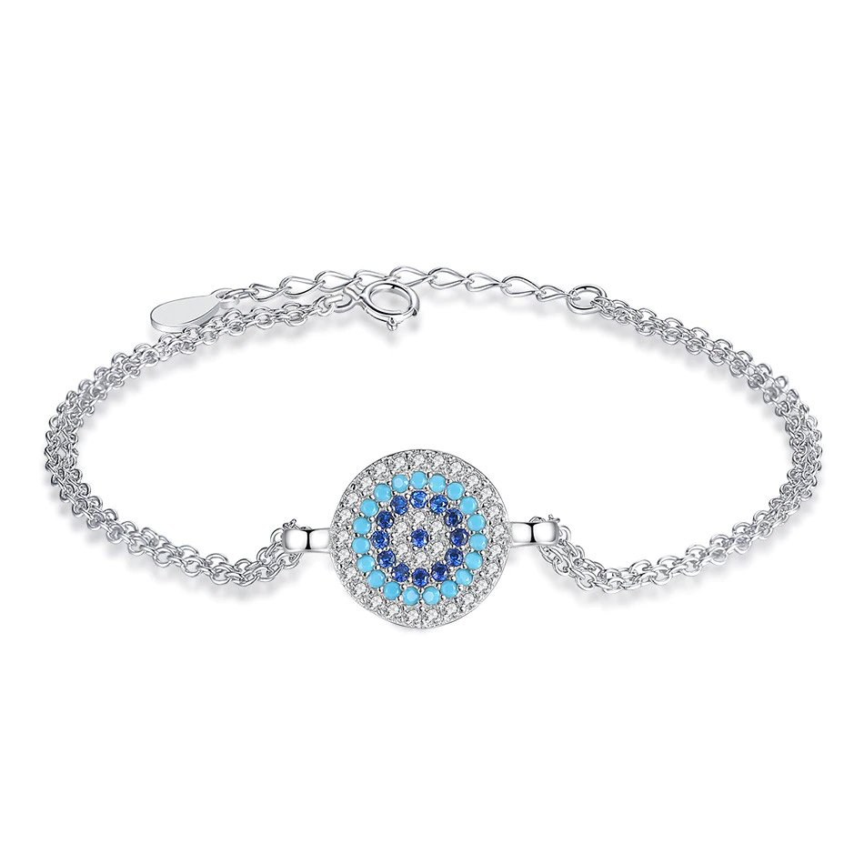 Round Blue Lucky Evil Eye Bracelet