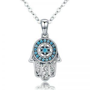 online jewellery shop - Hamsa evil eye hand Necklace 300x300 - The best online jewellery shop