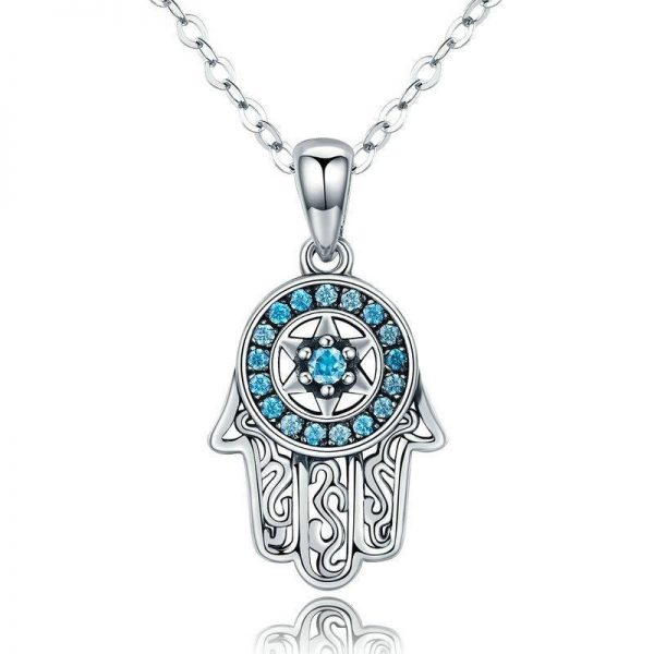 online jewellery shop - Hamsa evil eye hand Necklace 600x600 - Meaningful Necklace For Her