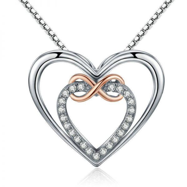 jewellery shop - Infinity heart necklace 600x600 - Jewellery, UK Jewellery Shops & Online Jewellery Store | Azurechic