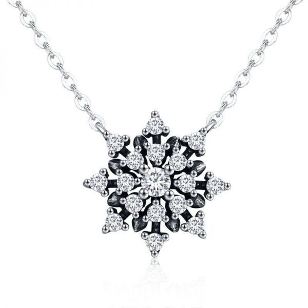 online jewellery shop - Sparkle flake Necklace jewellery Cyprus 600x600 - The best online jewellery shop