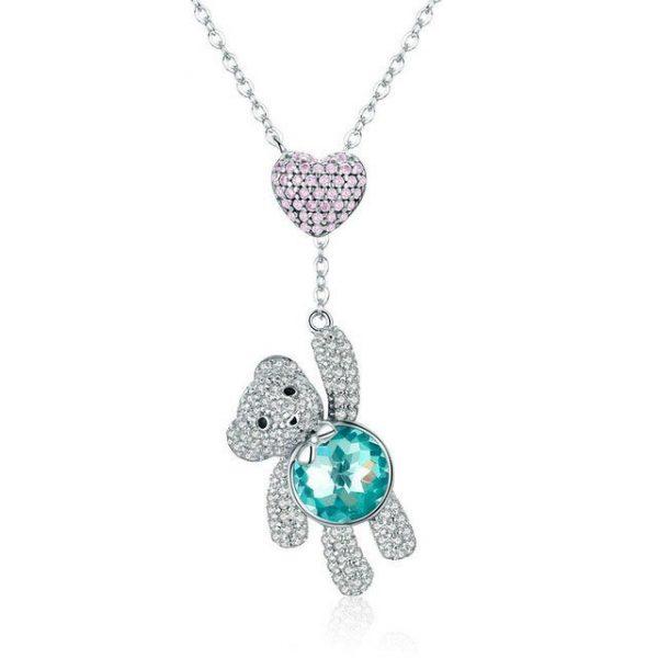 Heart Necklace online jewellery shop - Bear Heart Necklace 600x600 - The best online jewellery shop