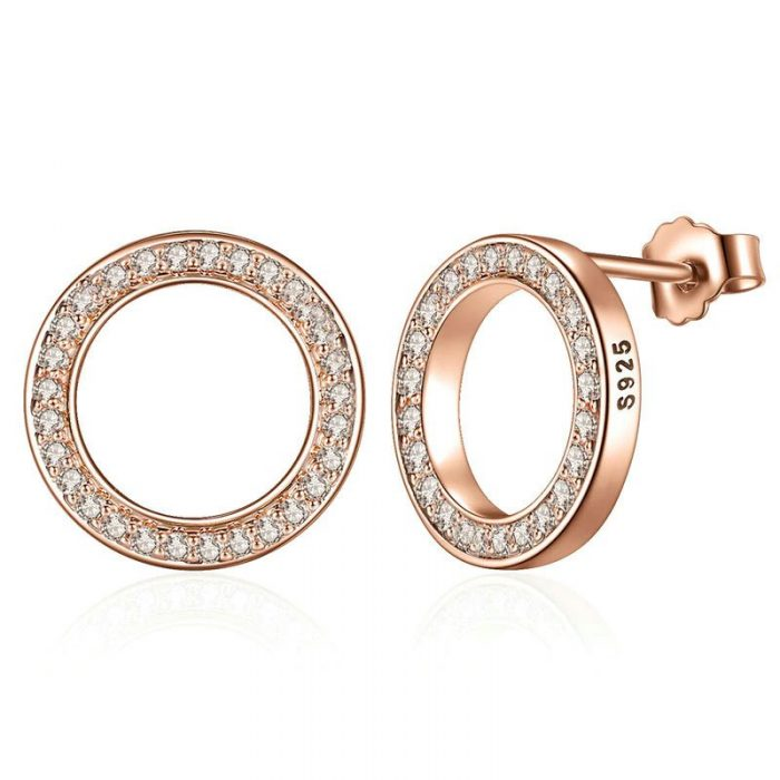 Chic-Circle-Stud-Earrings