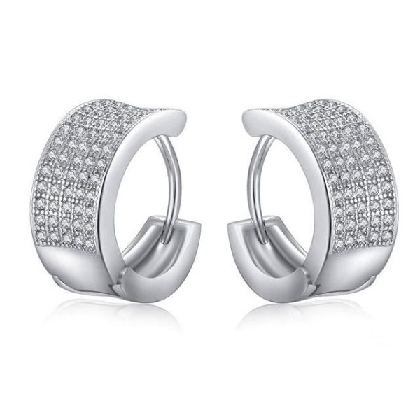 Pave-Set-Huggies-Earrings