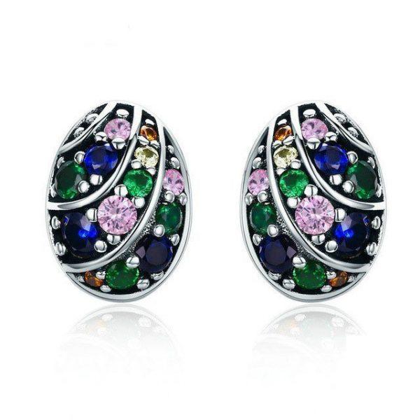 Egg Εarrings online jewellery shop - Egg   arrings sterling silver jewellery 925 600x600 - The best online jewellery shop