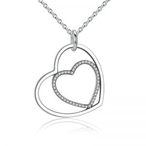promise necklace for girlfriend - Heart in Heart Necklace 300x300 - Promise Pendants