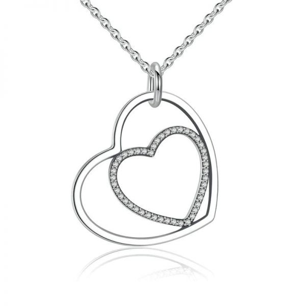 promise necklace for girlfriend - Heart in Heart Necklace 600x600 - Promise Pendants