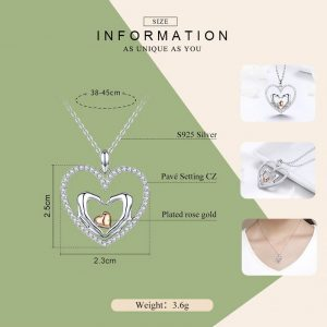Heart Necklace. Online Jewellery Shopping promise necklace for girlfriend - Heart to Heart Necklace 300x300 - Promise Pendants