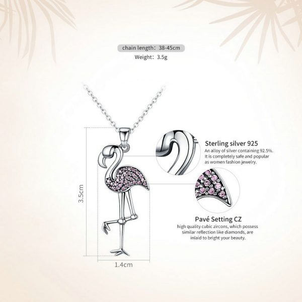 online jewellery shop - Pink Flamingo Necklace Jewellery 600x600 - Meaningful Necklace For Her