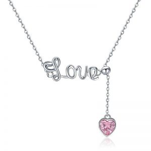 Signature-of-love-with-heart promise necklace for girlfriend - Signature of love with heart 300x300 - Promise Pendants