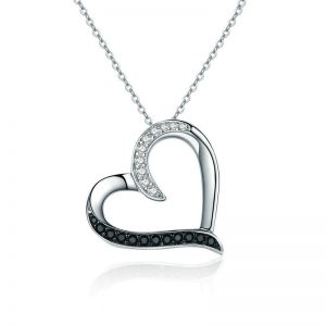 promise necklace for girlfriend - Sparkling Heart Necklace 300x300 - Promise Pendants