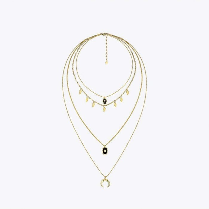 Bohemian-Multi-Layered-Necklace