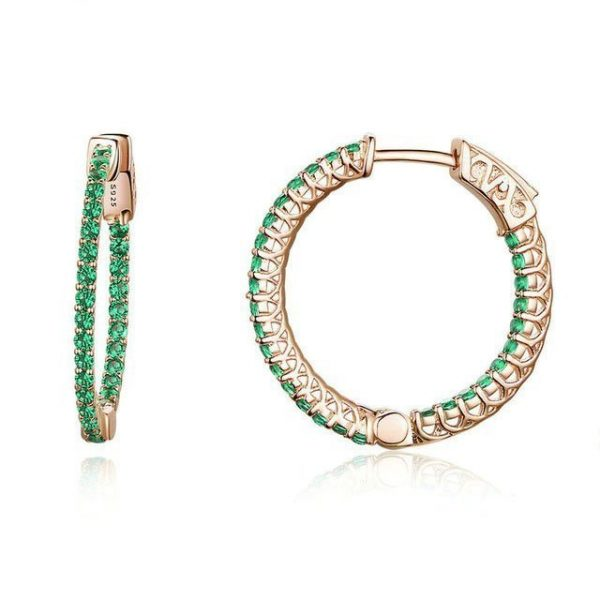 Green-Hoop-Earrings