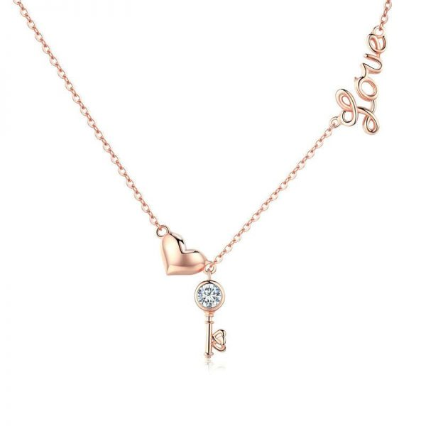 Rose-Gold-Heart-Love-Necklace-jewellery jewellery shop - Rose Gold Heart Love Necklace jewellery 600x600 - Jewellery, UK Jewellery Shops & Online Jewellery Store | Azurechic
