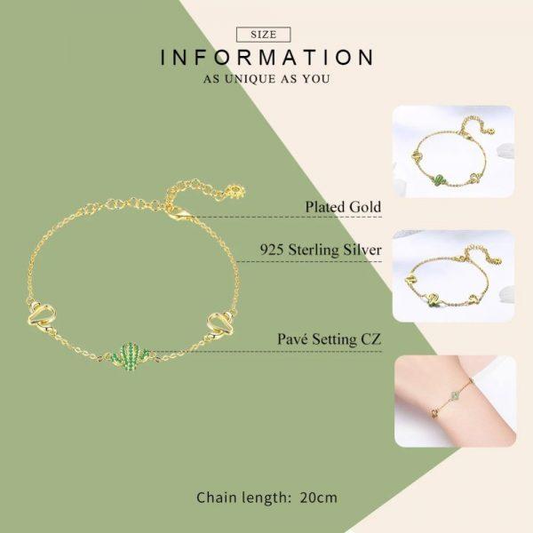 Cactus Charm Bracelet