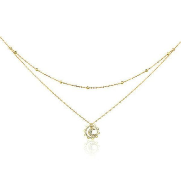 Sun n' Moon Double Layered Necklace