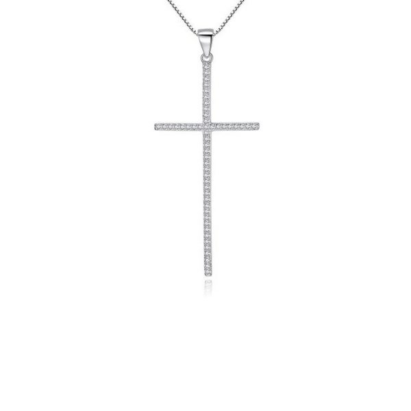 Silver Cross Pendant Necklace jewellery shop - Silver Cross Pendant Necklace 600x600 - Jewellery, UK Jewellery Shops & Online Jewellery Store | Azurechic