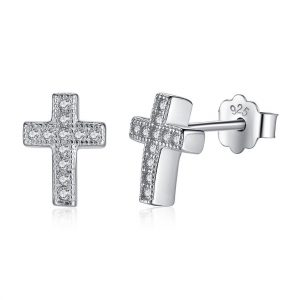 Silver-cross-earrings-azure-chic-jewellery