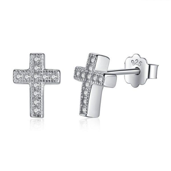 Silver-cross-earrings-azure-chic-jewellery