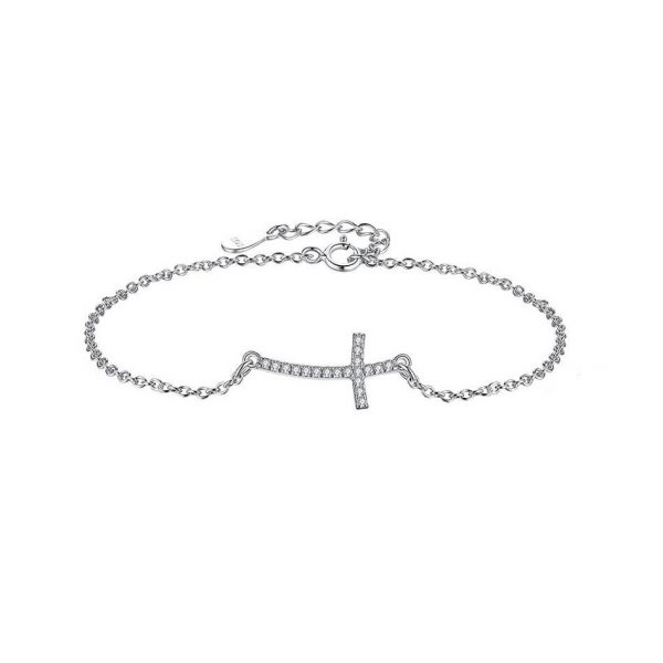 sterling-silver-cross-bracelet jewellery shop - sterling silver cross bracelet 600x600 - Jewellery, UK Jewellery Shops & Online Jewellery Store | Azurechic