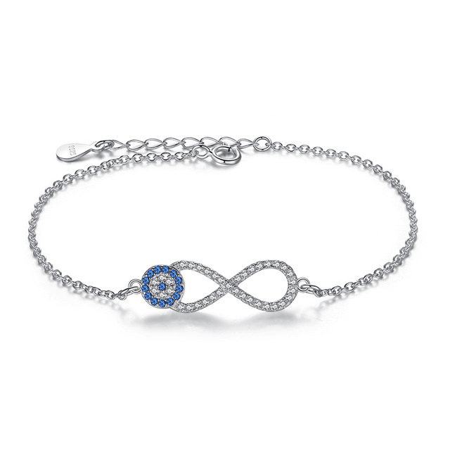bracelets with meaning bracelet with meaning - Bracelets with Meaning infinity evil eye bracelet sterling silver cubic zirconia - Bracelets with Meaning