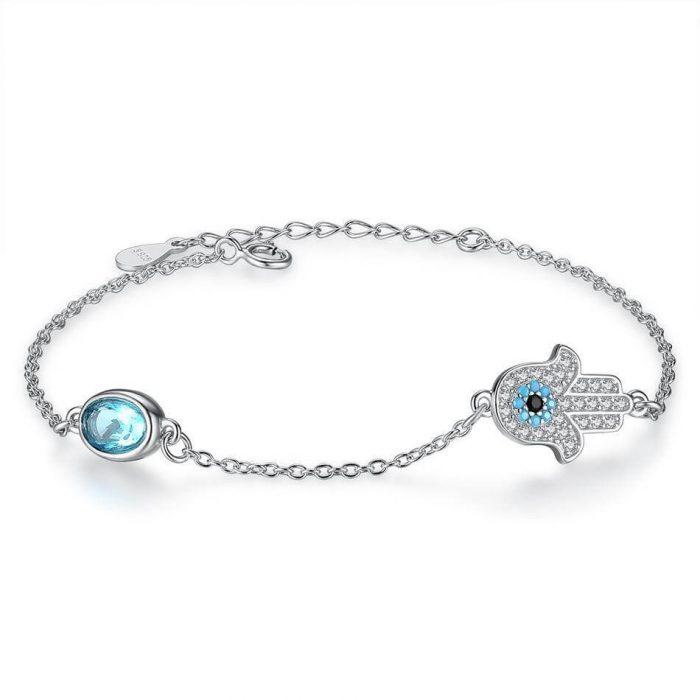 evil eye hamsa bracelet uk sterling silver jewellery evil eye bracelet uk