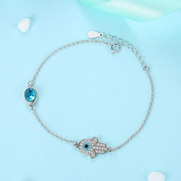 hamsa evil eye bracelet uk sterling silver jewellery evil eye bracelet uk