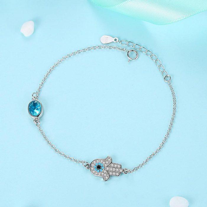 hamsa evil eye bracelet uk sterling silver jewellery evil eye bracelet uk